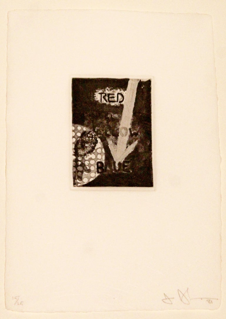 Contemporary Modern Set of Three Framed Lithographs Jasper Johns Signed Numbered In Good Condition In Keego Harbor, MI