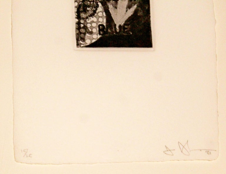 Late 20th Century Contemporary Modern Set of Three Framed Lithographs Jasper Johns Signed Numbered