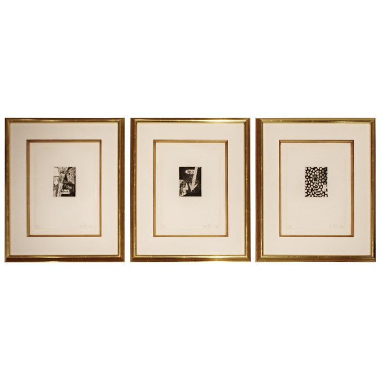 Contemporary Modern Set of Three Framed Lithographs Jasper Johns Signed Numbered