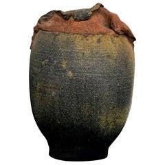 "Contemporary Modern Signed ""Silverman"" Stoneware Vessel Sculpture Glazed Vase"