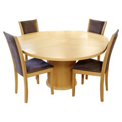 Contemporary Modern Skovby Denmark Dining Game Set Expandable Table & 4 Chairs