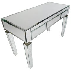 Contemporary Modern Three-Drawer Mirrored Vanity