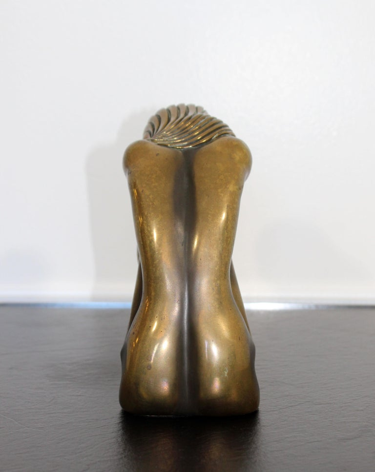 American Contemporary Modern Tom Bennett Signed Bronze Table Sculpture 94/250 Solitude For Sale