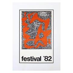 """Contemporary Modern Unframed Jerry Berta """"Calder Cutout-Festival"""" Silkscreen"""