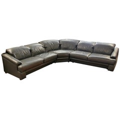 Contemporary Modern Preview 3-Piece Sectional Sofa, 1980s