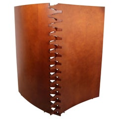 Contemporary Modern Wood 2 Panel Room Divider Screen by Arkitektura, 1980s