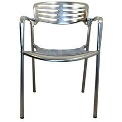 Contemporary Modernist Aluminum Accent Chair Toledo by Jorge Pensi, Spain, 1980s