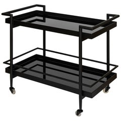 Contemporary Modernist Black Bar Cart