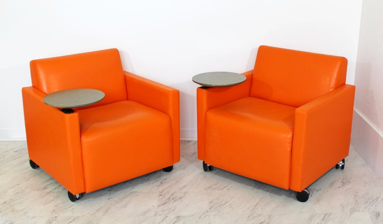 Marvelous Contemporary Modernist Coalesse Steelcase Pair Cube Lounge Pabps2019 Chair Design Images Pabps2019Com