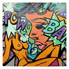 Contemporary Modernist Pop Graphic Art Signed Chris Hobe Artrevolt, Dated 2015