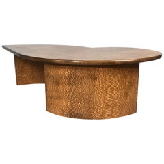 Contemporary Modernist Quilted Maple Coffee/Cocktail Table, David Forster