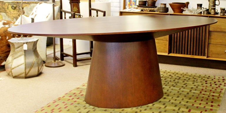 Late 20th Century Contemporary Modernist Sullivan Oval Wood Dining Table 1990s