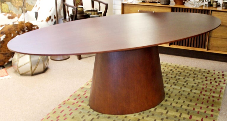 Contemporary Modernist Sullivan Oval Wood Dining Table 1990s 1