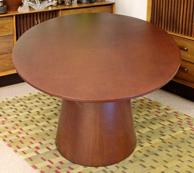 Contemporary Modernist Sullivan Oval Wood Dining Table 1990s 2