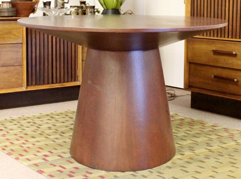 Contemporary Modernist Sullivan Oval Wood Dining Table 1990s 3