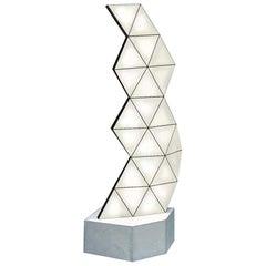 Contemporary Modular Aluminum Floor Lamp Tri Light TRI23F by Tokio