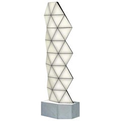 Contemporary Modular Aluminum Floor Lamp Tri Light TRI33F by Tokio