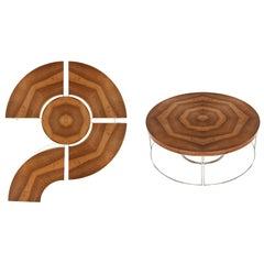 Contemporary Modular Coffee Table, 5 Functional Pieces