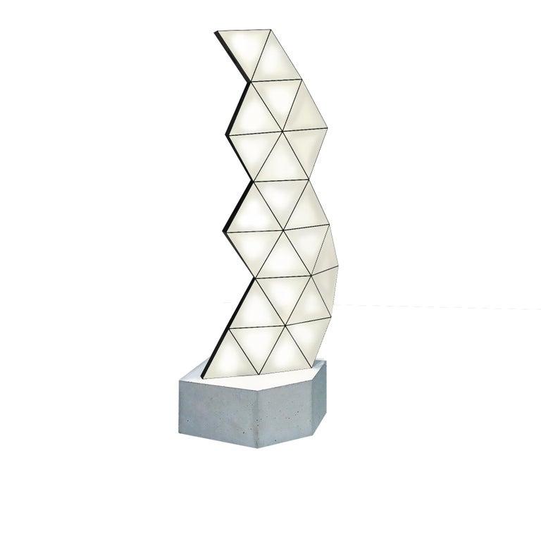 Minimalist Contemporary Modular Floor Lamp Tri Light Large For Sale
