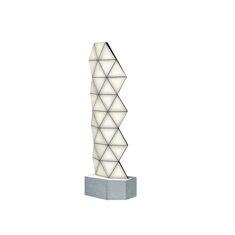 Slovenian Contemporary Modular Floor Lamp Tri Light Large For Sale
