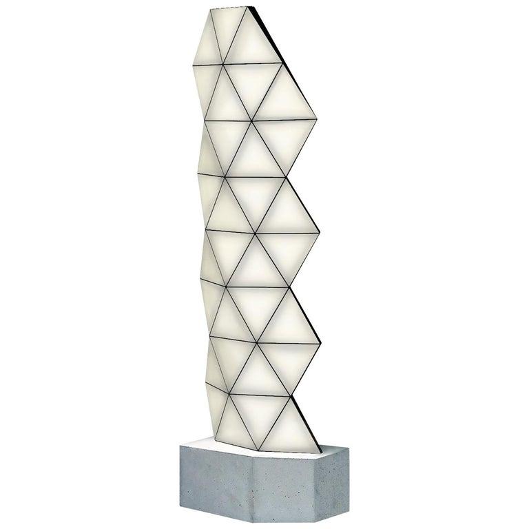 Contemporary Modular Floor Lamp Tri Light Large For Sale