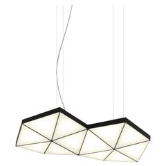 Contemporary Modular Pendant Carbon Light TRI12 by Tokio