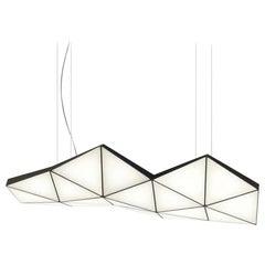 Contemporary Modular Pendant Carbon Light TRI18 by Tokio