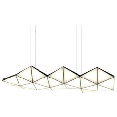 Contemporary Modular Pendant Carbon Light TRI26 by Tokio