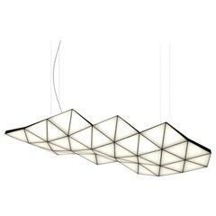 Contemporary Modular Pendant Carbon Light TRI46 by Tokio