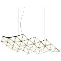 Contemporary Modular Pendant Carbon Light TRI58 by Tokio