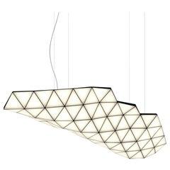 Contemporary Modular Pendant Carbon Light TRI82 by Tokio