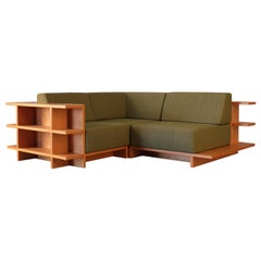 Contemporary Modular Sofa and Bookcase with Removable Cushions