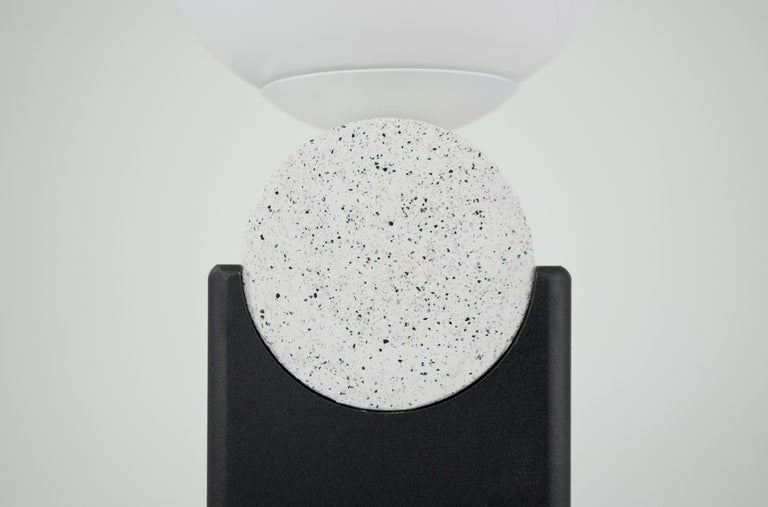 Contemporary Monument Lamp Circle V2 in Jesmonite, Steel and Glass Bauhaus Style In New Condition For Sale In London, GB