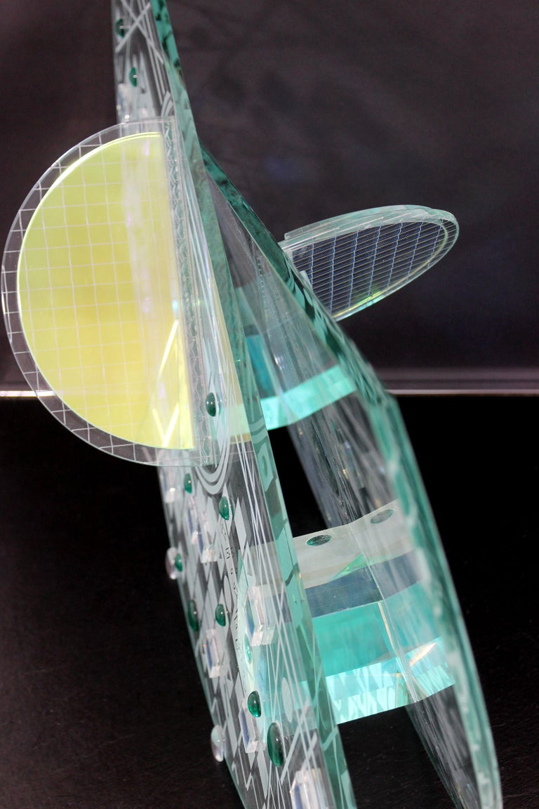 Contemporary Large Toland Sands Memphis Abstract Art Glass Sculpture, 1980s For Sale 5