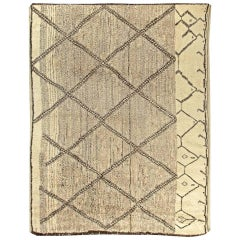 Contemporary Moroccan Hand-Knotted Wool Area Rug