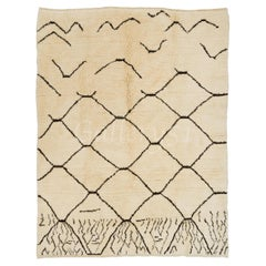 Contemporary Moroccan Rug, 100% Natural Un-Dyed Wool, Custom Options