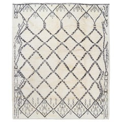 Contemporary Moroccan Rug, 100% Natural Undyed Wool
