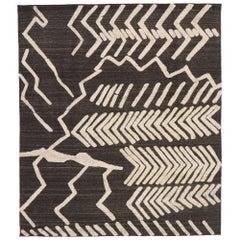 New Contemporary Moroccan Style Kilim Souf Rug with Raised Tribal Design