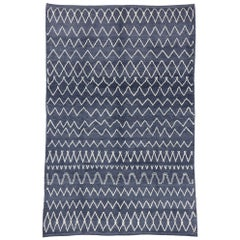 Contemporary Moroccan Style Rug with Diamond Pattern and Chevron Design