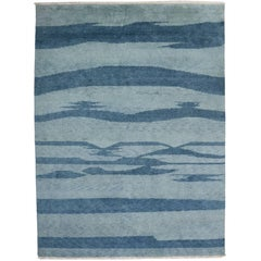 New Contemporary Moroccan Rug with Coastal Postmodern and Beach Hygge Style