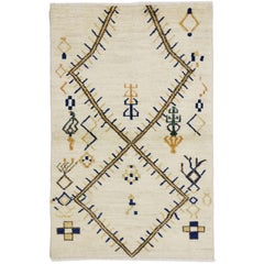 Contemporary Moroccan Style Rug with Modern Tribal Style