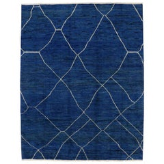 Contemporary Moroccan Style Rug with Postmodern Memphis Design