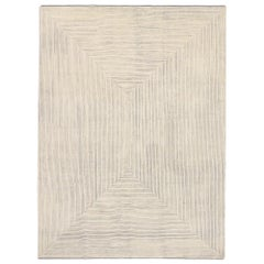 New Contemporary Moroccan Style Souf Rug with Raised Minimalist Design