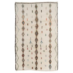 Contemporary Moroccan Wool Rug with Diamond Pattern