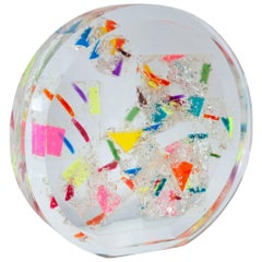 Contemporary Multicolored Large Acrylic Sphere Sculpture