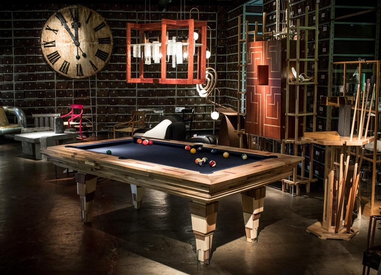 Contemporary Multifunctional Billiard or Game Table, Cocktail Table and Paravent For Sale 13