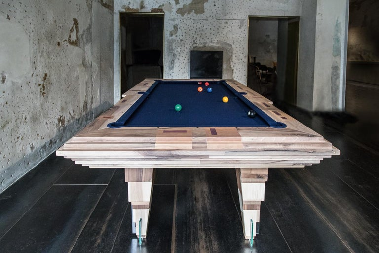 Italian Contemporary Multifunctional Billiard or Game Table, Cocktail Table and Paravent For Sale