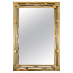 Contemporary Murano Italian Brass Wall Mirror