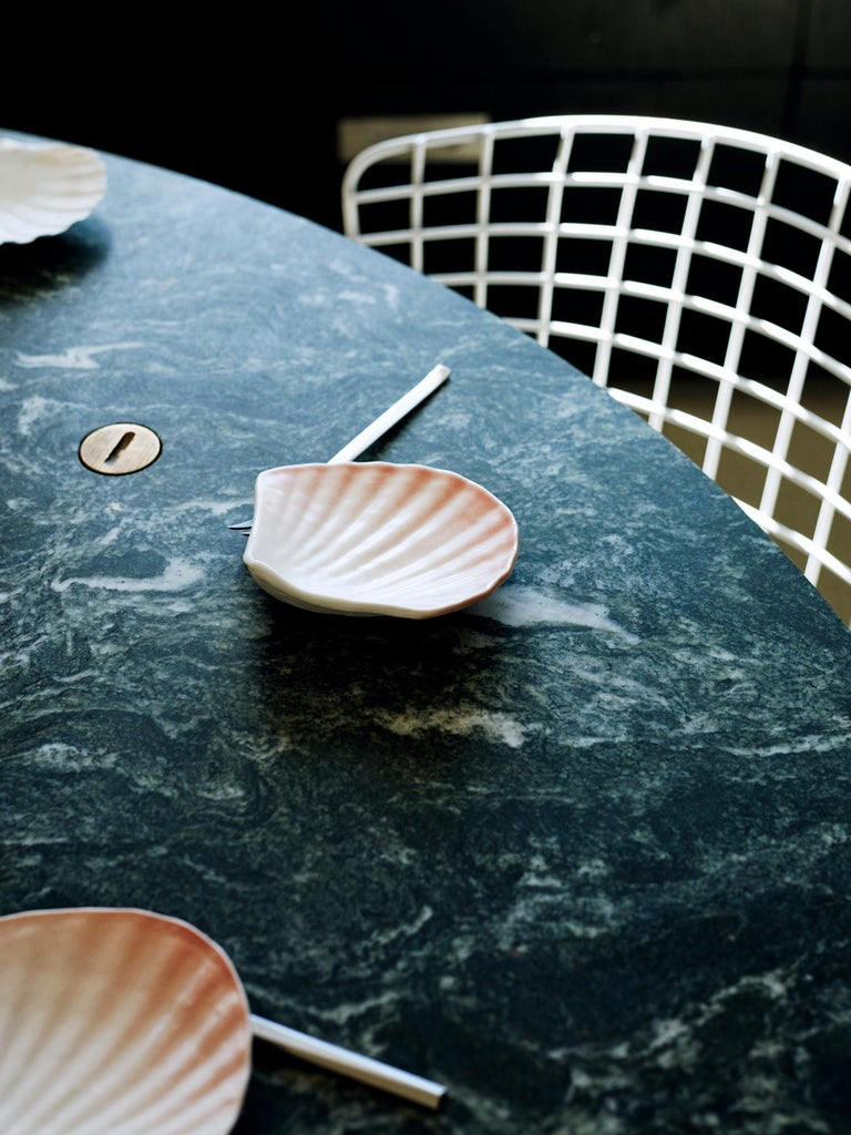 Contemporary Neb Round Dining Table, Stone Top and Metal Legs by Per Soderberg In New Condition For Sale In Stockholm, SE