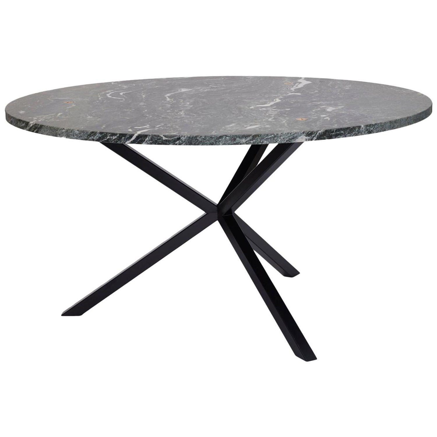 Contemporary neb round dining table stone top and metal legs by per soderberg for sale at 1stdibs